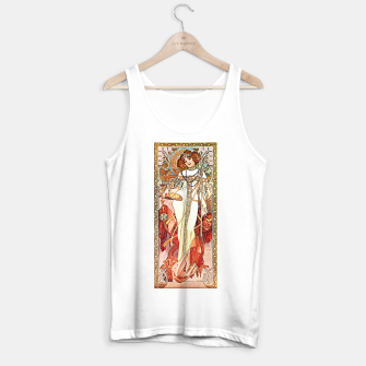 Thumbnail image of Alphonse-Mucha - L'Automne Vintage Art Tank Top regular, Live Heroes