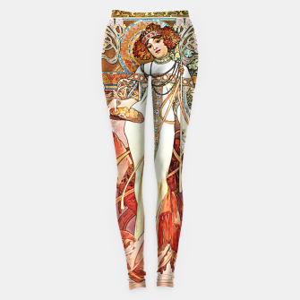 Thumbnail image of Alphonse-Mucha - L'Automne Vintage Art Leggings, Live Heroes