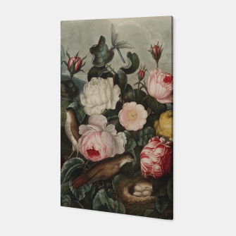 Thumbnail image of Thornton, Robert John (1768-1837) - The Temple of Flora 1807 - Roses Canvas, Live Heroes
