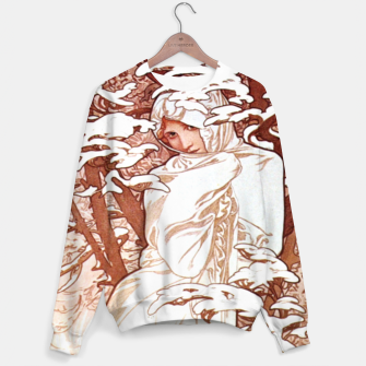 Thumbnail image of Alphonse Mucha - Winter II White Border Cotton sweater, Live Heroes
