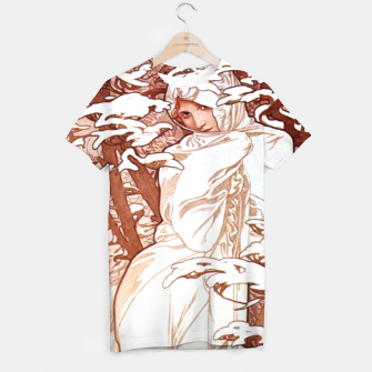 Thumbnail image of Alphonse Mucha - Winter II White Border T-shirt, Live Heroes