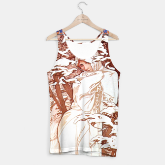 Thumbnail image of Alphonse Mucha - Winter II White Border Tank Top, Live Heroes