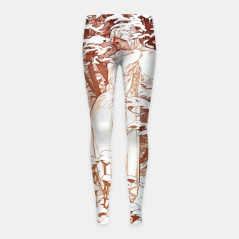 Thumbnail image of Alphonse Mucha - Winter II White Border Girl's leggings, Live Heroes