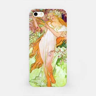 Thumbnail image of Alphonse Mucha Spring White Border iPhone Case, Live Heroes