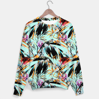 Thumbnail image of Birds on leaf 2 Sudadera de algodón, Live Heroes