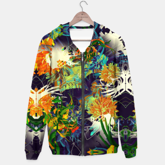Thumbnail image of Skull Flora Cotton zip up hoodie, Live Heroes
