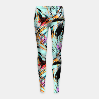 Thumbnail image of Birds on leaf 2 Leggings para niña, Live Heroes