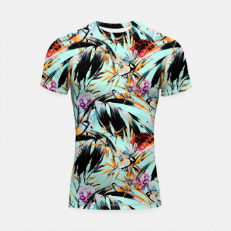 Thumbnail image of Birds on leaf 2 Shortsleeve rashguard, Live Heroes