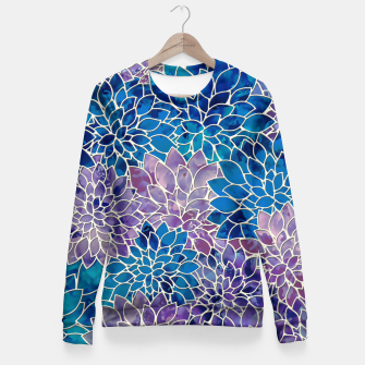 Imagen en miniatura de Floral Abstract Pattern Woman cotton sweater, Live Heroes
