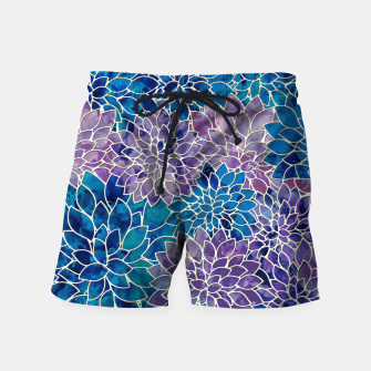 Imagen en miniatura de Floral Abstract Pattern Swim Shorts, Live Heroes