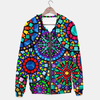 Thumbnail image of Cheerful Circles 2 Cotton zip up hoodie, Live Heroes