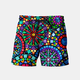 Thumbnail image of Cheerful Circles 2 Swim Shorts, Live Heroes