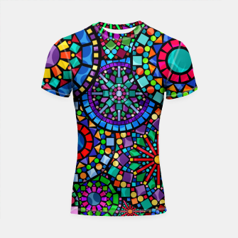 Thumbnail image of Cheerful Circles 2 Shortsleeve rashguard, Live Heroes