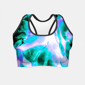 Thumbnail image of closeup rose texture abstract background in blue purple and green Crop Top, Live Heroes