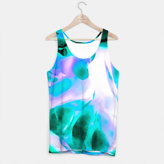 Thumbnail image of closeup rose texture abstract background in blue purple and green Tank Top, Live Heroes