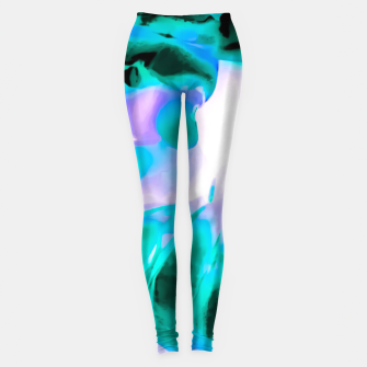 Thumbnail image of closeup rose texture abstract background in blue purple and green Leggings, Live Heroes