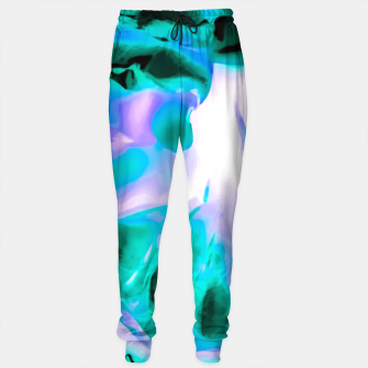 Thumbnail image of closeup rose texture abstract background in blue purple and green Cotton sweatpants, Live Heroes