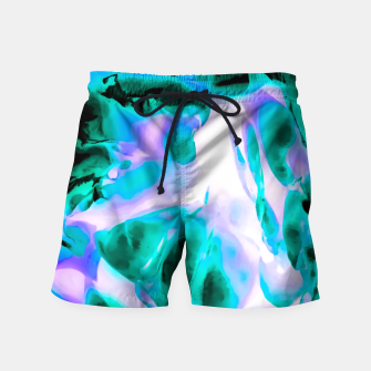 Thumbnail image of closeup rose texture abstract background in blue purple and green Swim Shorts, Live Heroes