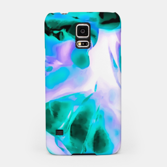 Thumbnail image of closeup rose texture abstract background in blue purple and green Samsung Case, Live Heroes