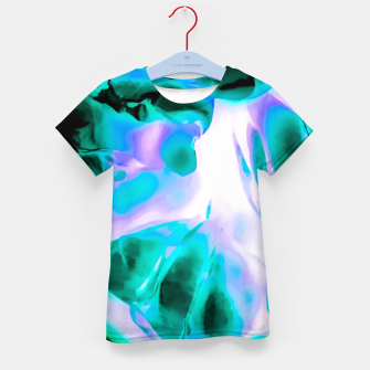 Thumbnail image of closeup rose texture abstract background in blue purple and green Kid's t-shirt, Live Heroes