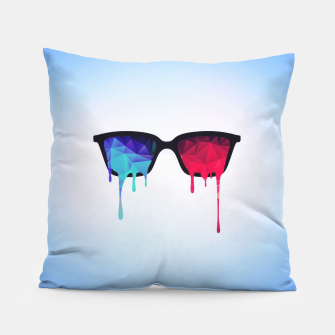 Miniature de image de  3D Psychedelic / Goa Meditation Glasses Pillow, Live Heroes