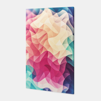 Miniatur Colorful Abstract Geometric Vintage Triangle Pattern Canvas, Live Heroes
