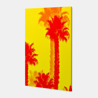 Thumbnail image of orange palm tree pattern abstract with yellow background Canvas, Live Heroes