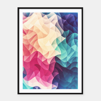 Miniatur Colorful Abstract Geometric Vintage Triangle Pattern Framed poster, Live Heroes