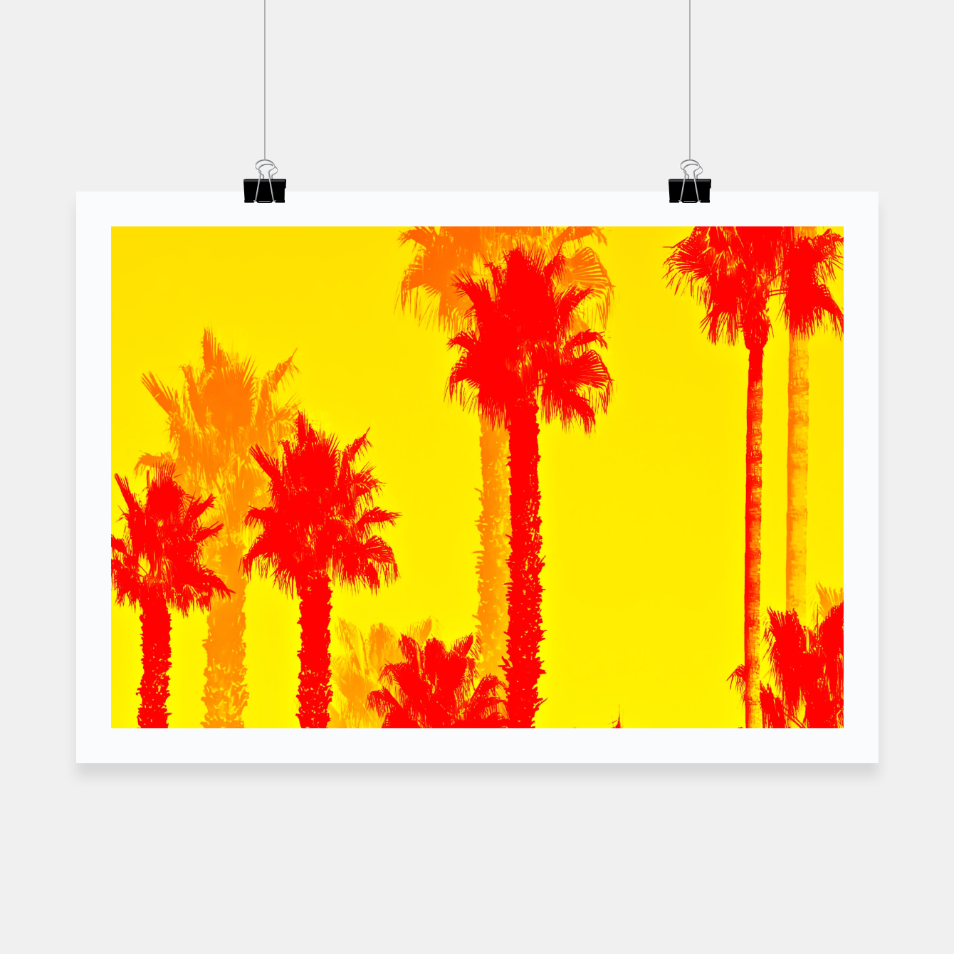 orange palm tree pattern abstract with yellow background