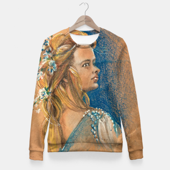 Thumbnail image of flowergirl yuliakorneva v1 Woman cotton sweater, Live Heroes