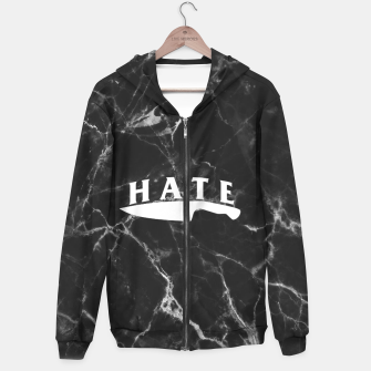 Miniaturka hate Cotton zip up hoodie, Live Heroes