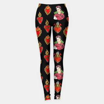Thumbnail image of Frida and sacred heart Leggings, Live Heroes