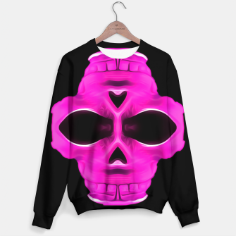 Thumbnail image of pink skull portrait with black background Cotton sweater, Live Heroes