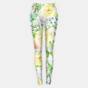 Thumbnail image of Bloom Strong | Spring Floral Pattern Leggings, Live Heroes