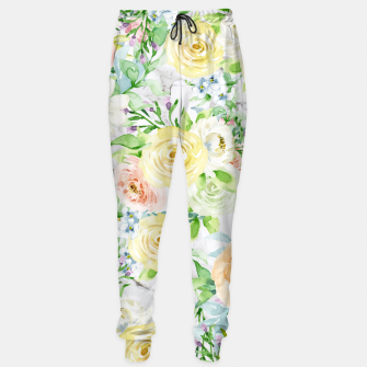 Thumbnail image of Bloom Strong | Spring Floral Pattern Cotton sweatpants, Live Heroes
