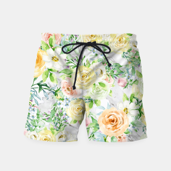 Thumbnail image of Bloom Strong | Spring Floral Pattern Swim Shorts, Live Heroes