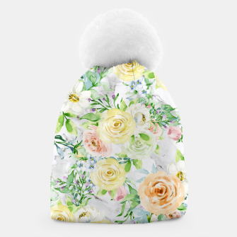 Thumbnail image of Bloom Strong | Spring Floral Pattern Beanie, Live Heroes