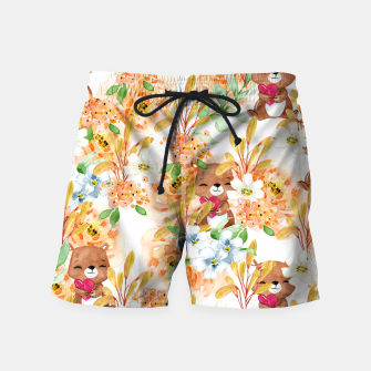 Thumbnail image of Valentines Bears Swim Shorts, Live Heroes