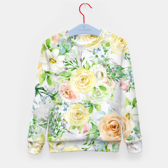 Thumbnail image of Bloom Strong | Spring Floral Pattern Kid's sweater, Live Heroes