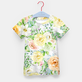 Thumbnail image of Bloom Strong | Spring Floral Pattern Kid's t-shirt, Live Heroes