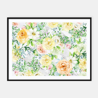 Thumbnail image of Bloom Strong | Spring Floral Pattern Framed poster, Live Heroes