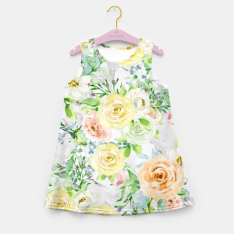 Miniatur Bloom Strong | Spring Floral Pattern Girl's summer dress, Live Heroes