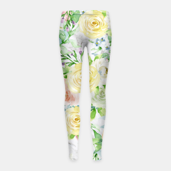 Thumbnail image of Bloom Strong | Spring Floral Pattern Girl's leggings, Live Heroes