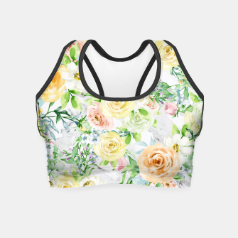 Thumbnail image of Bloom Strong | Spring Floral Pattern Crop Top, Live Heroes