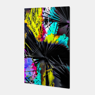 Thumbnail image of palm leaf texture abstract with painting texture background in pink blue yellow Canvas, Live Heroes