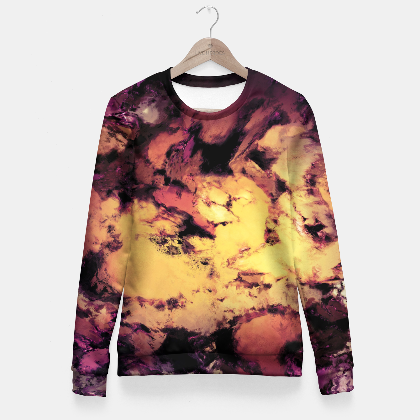 Image of A repeated immersion Woman cotton sweater - Live Heroes