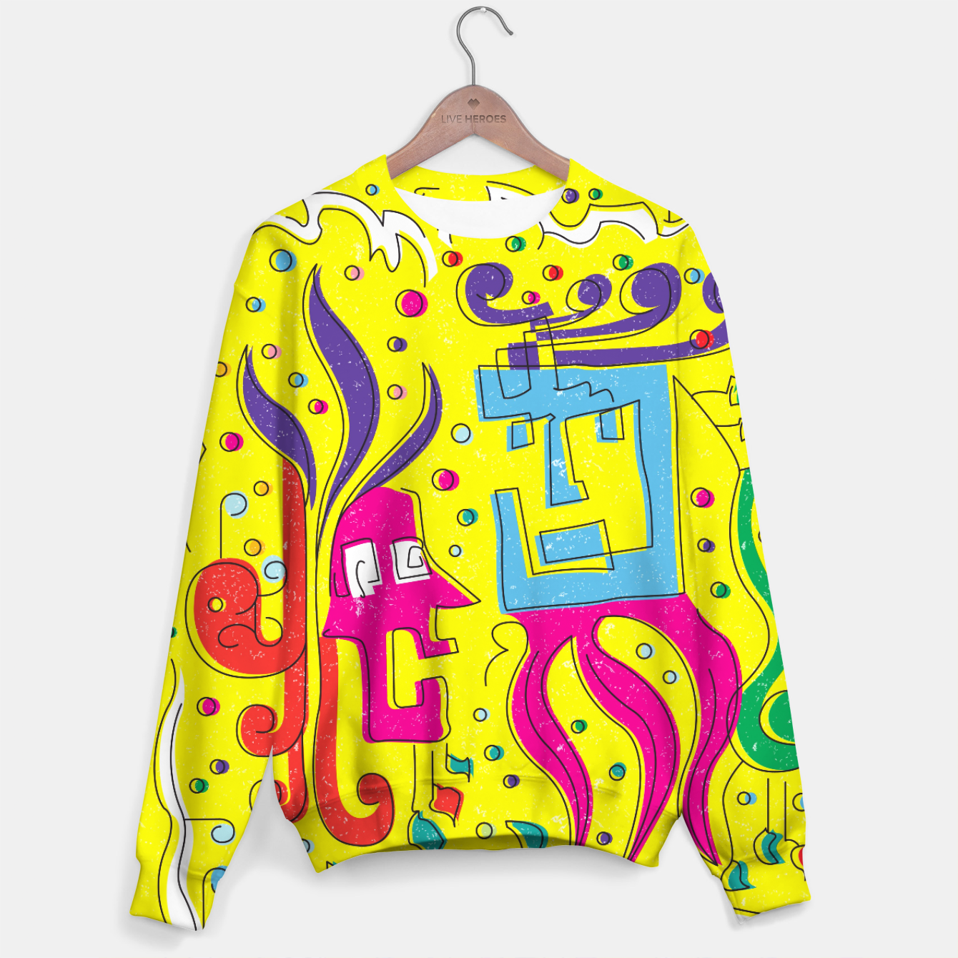 Image of Weird Characters Cotton sweater - Live Heroes