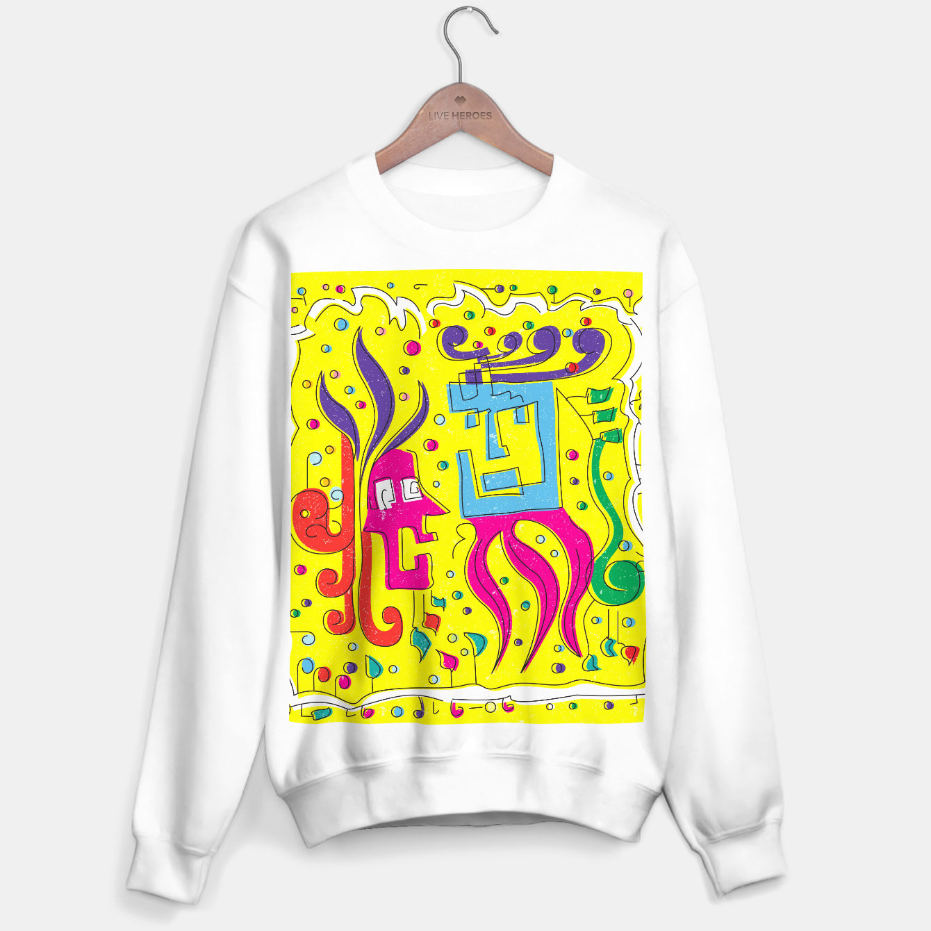 Image of Weird Characters Sweater regular - Live Heroes