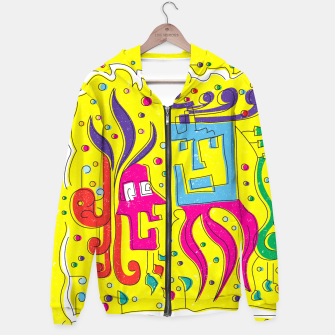 Weird Characters Cotton zip up hoodie thumbnail image