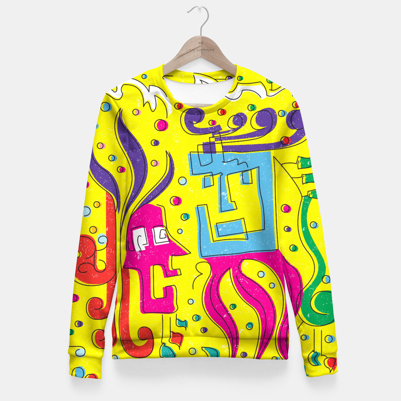 Image of Weird Characters Woman cotton sweater - Live Heroes